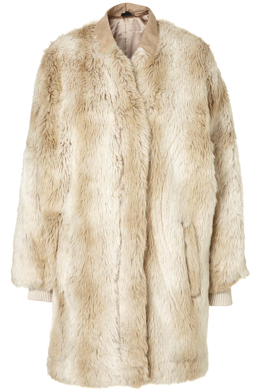ZIP FRONT FAUX FUR COAT BY TOPSHOP | Hot Brands London